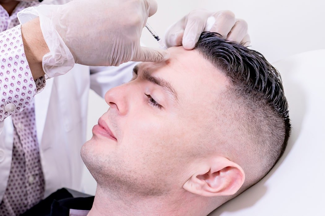 BOTOX® injections in forehead